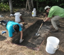 Archaelogical dig with CMU students 2012