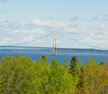View of the Mackinac Bridge