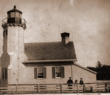 Historic photo, with lightkeeper James Davenport