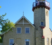 The rear of the lighthouse