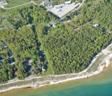 Aerial of the McGulpin site and shoreline